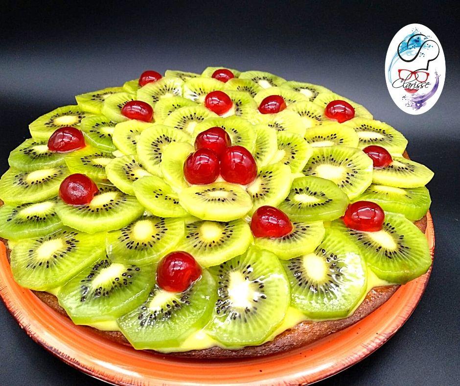 frutta, kiwi, ciliegie candite, primavera, raccolta della frutta, pasta frolla, dolci leggeri,